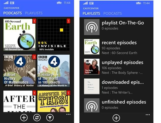 podcast player windows phone
